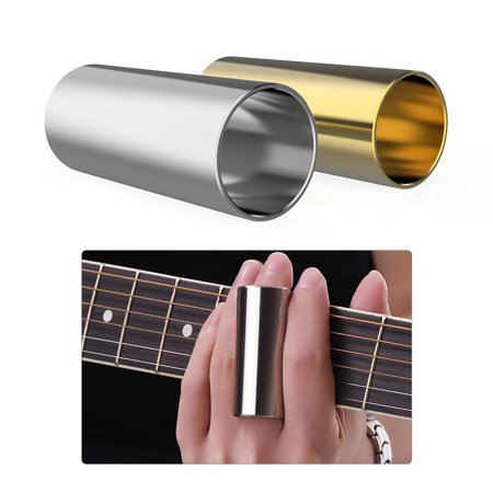 2pcs Stainless Steel Slides 6cm Long for Guitar Bass Ukulele Banjo String Instrument