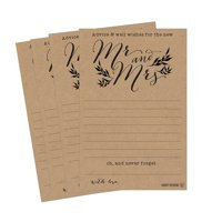 50 4x6 Kraft Rustic Wedding Advice & Well Wishes For The Bride and Groom Cards, Reception Wishing Guest Book Alternative, Bridal Shower Games Note Marriage Advice Bride To Be, Best Wishes For Mr & Mrs