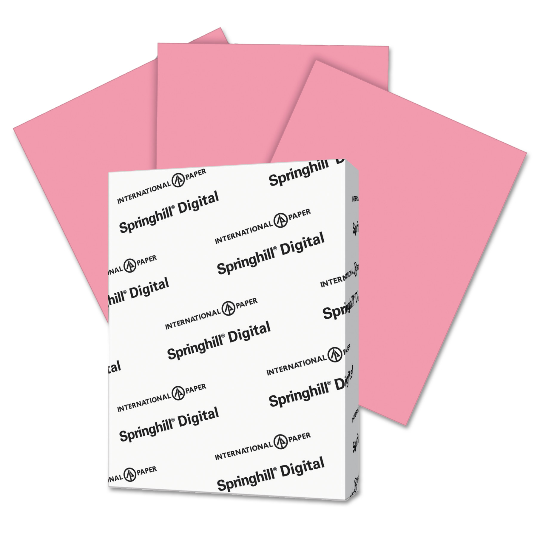Springhill Digital Index Color Card Stock, 90 lb, 8 1/2 x 11, Cherry, 250 Sheets/Pack -SGH075100