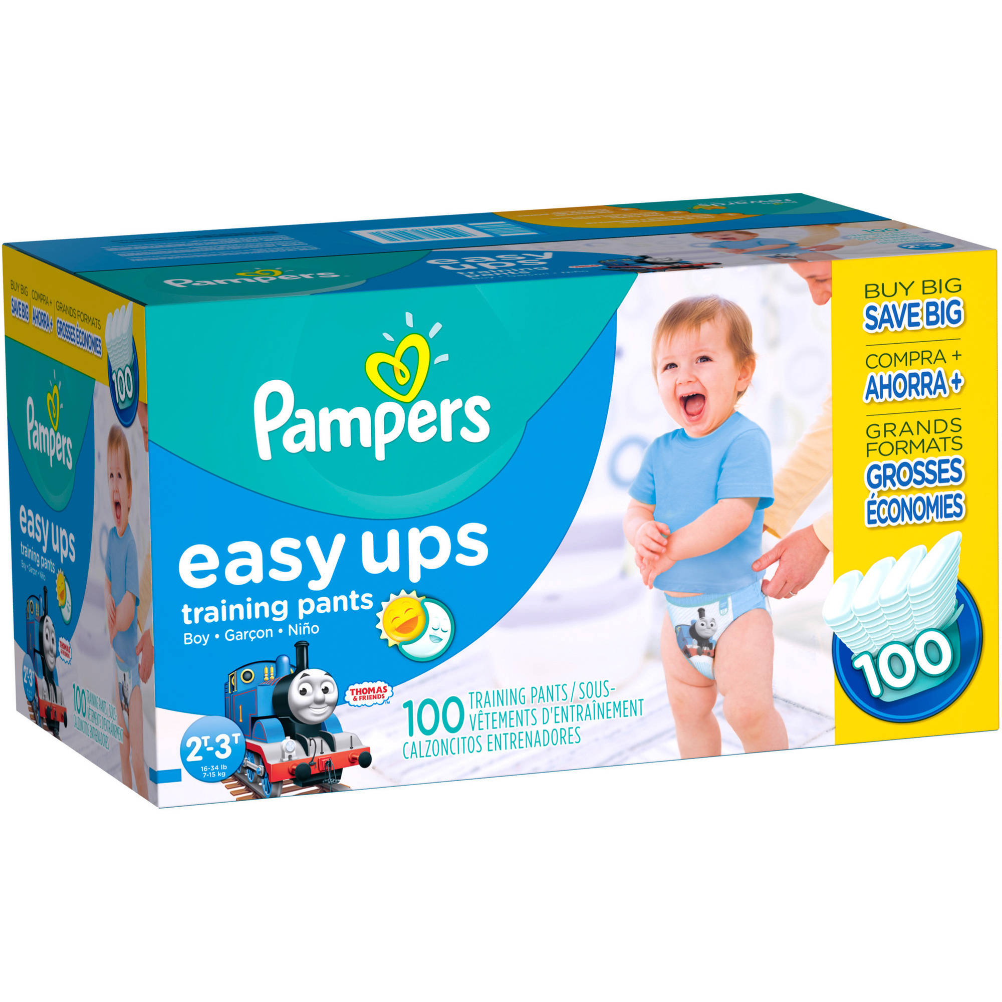 Pampers Easy Ups Boys Training Pants, Size 2T-3T, 164 Pants