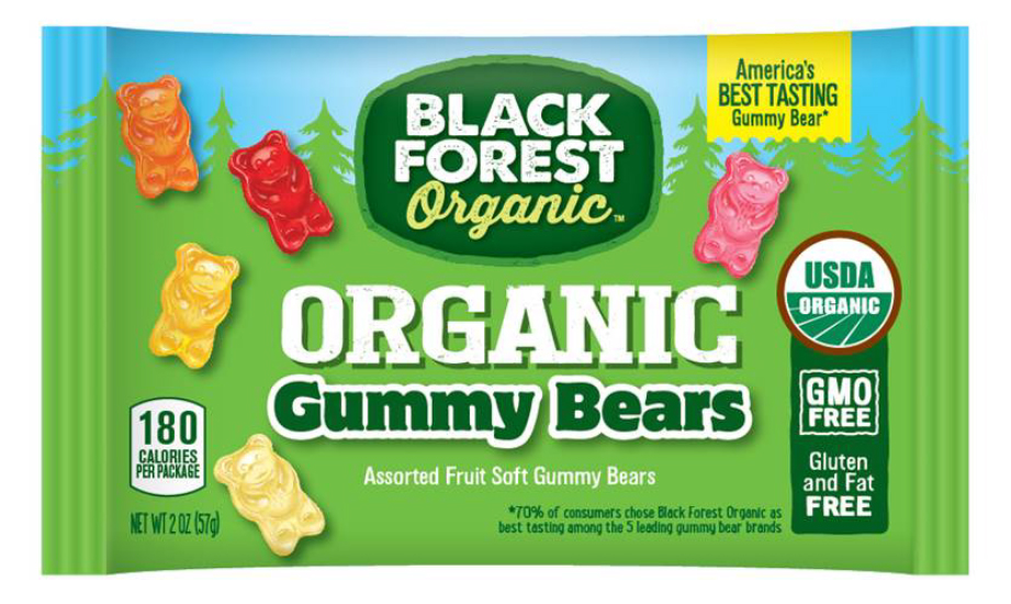 Black Forest Organic Gummy Bears Candy, 2 Ounce Bag, Pack of 12 by FERRARA CANDY COMPANY