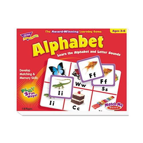 Trend Match Me Alphabet Game TEPT58101