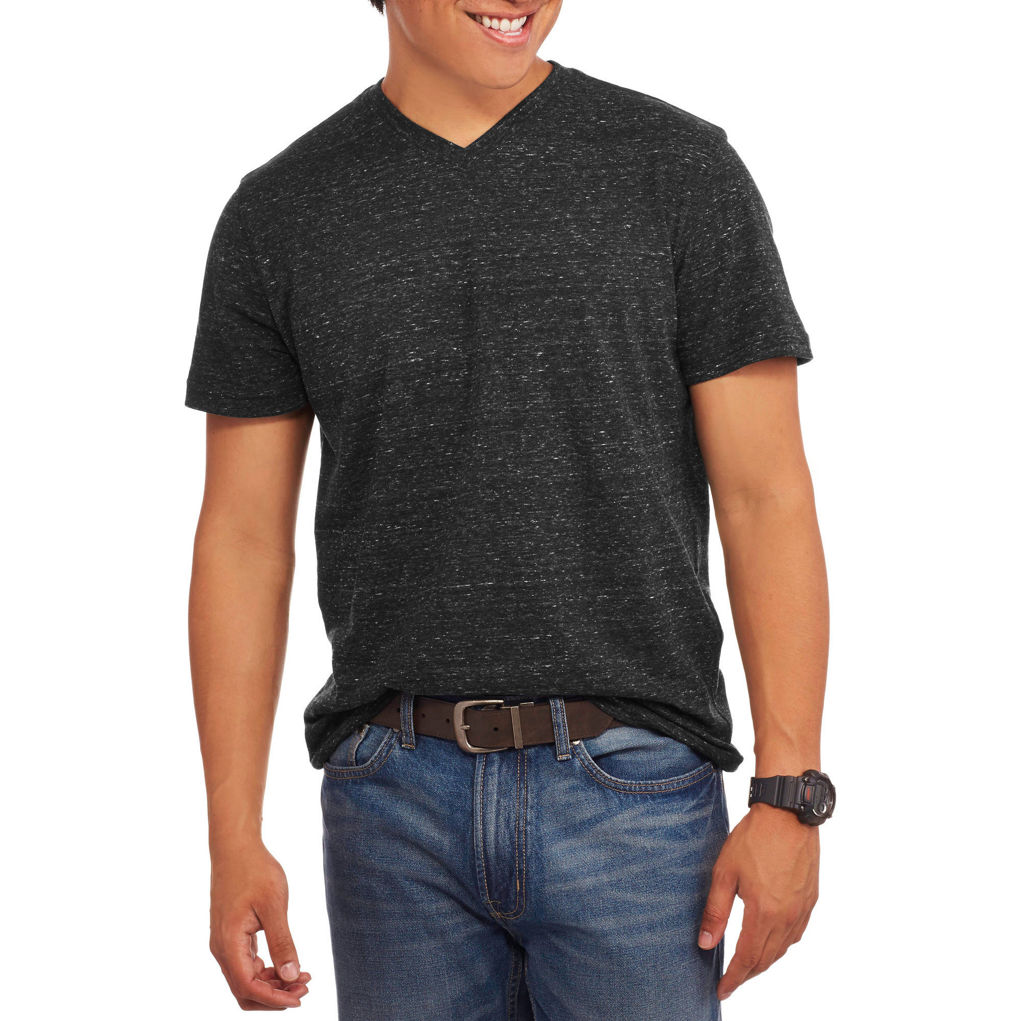 Faded Glory Men's Short Sleeve Solid V Neck Tee