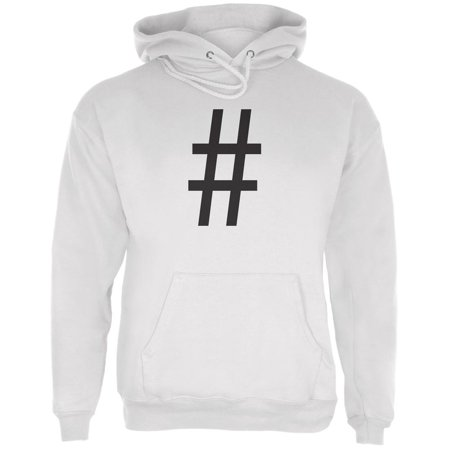 Halloween Hashtag White Adult Hoodie - Cool Hashtags For Halloween