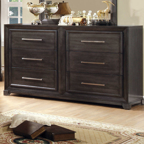 Hokku Designs Peterson 6 Drawer Dresser with Mirror