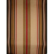 Antigua Dining Arm Chair in Royal Oak-Fabric:Black & Tan Stripes