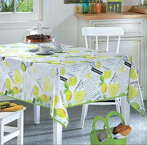 Beau Ottomanson Multicolor Lemon Lime Design Vinyl Indoor U0026 Outdoor Non Woven  Backing Kitchen Picnic Tablecloth