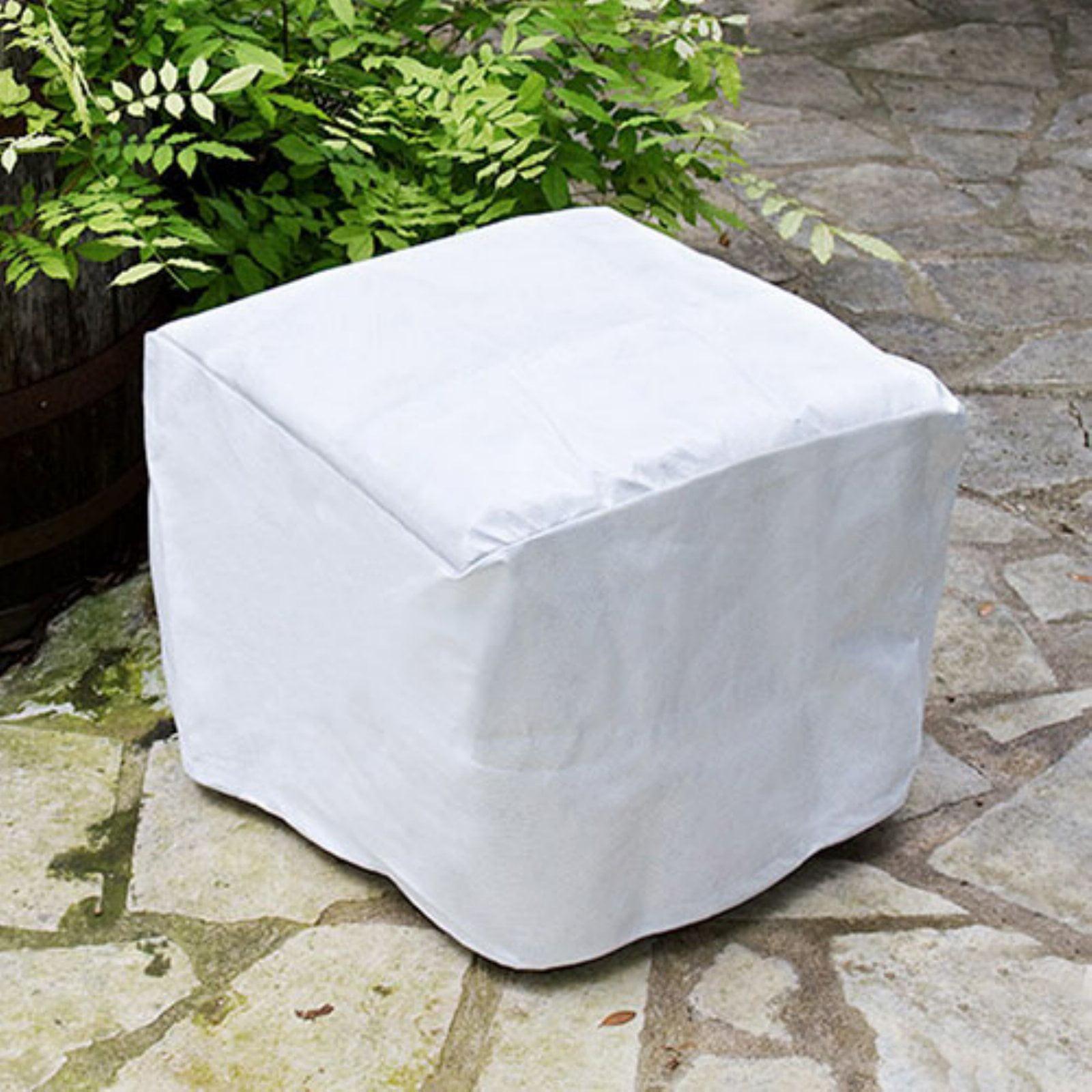 KoverRoos SupraRoos White Square Ottoman / Small Table Cover