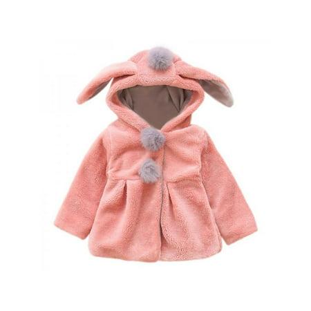 Animal Jackets With Ears (Ropalia Toddler Baby Girls Warm Cute Ear Winter Long Sleeve)