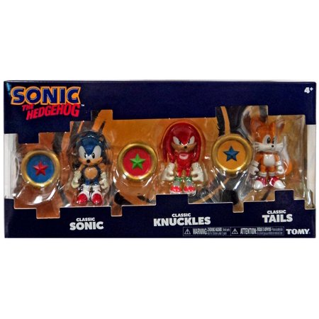 Sonic The Hedgehog Sonic Boom Sonic  Knuckles   Tails Action Figure 3 Pack  Rings
