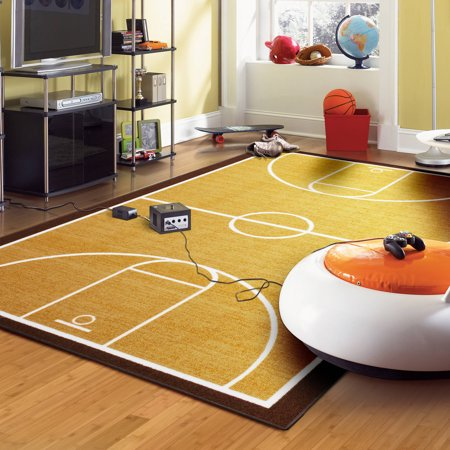 Mainstays Basketball Court Area Rug Walmart Com