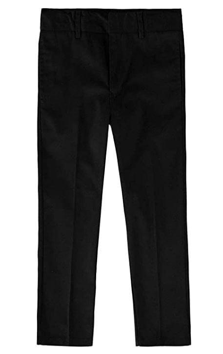 Educated Uniforms Boys Flat Front Double Knee Adjustable Waist School Pant