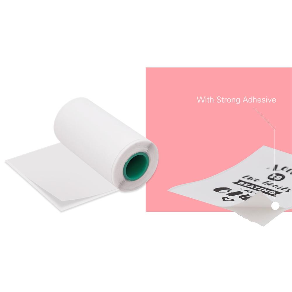 etiquetas adhesivas para impresora de fotos compatibles con impresora A6 PeriPage Colorido Laciness Puwind 6 rollos de papel t/érmico para impresora de 57 x 30 mm