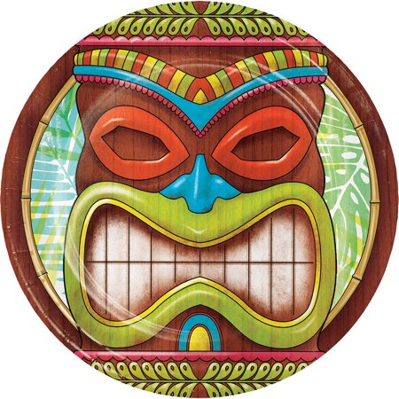 Tiki Time 8 Ct Dessert Cake Paper Plates Summer Pool Party Luau](Luau Paper Plates)