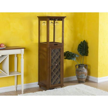 Elegant Home Fashions Burlington Wine/Glass storage Cabinet (Halloween Store Burlington)