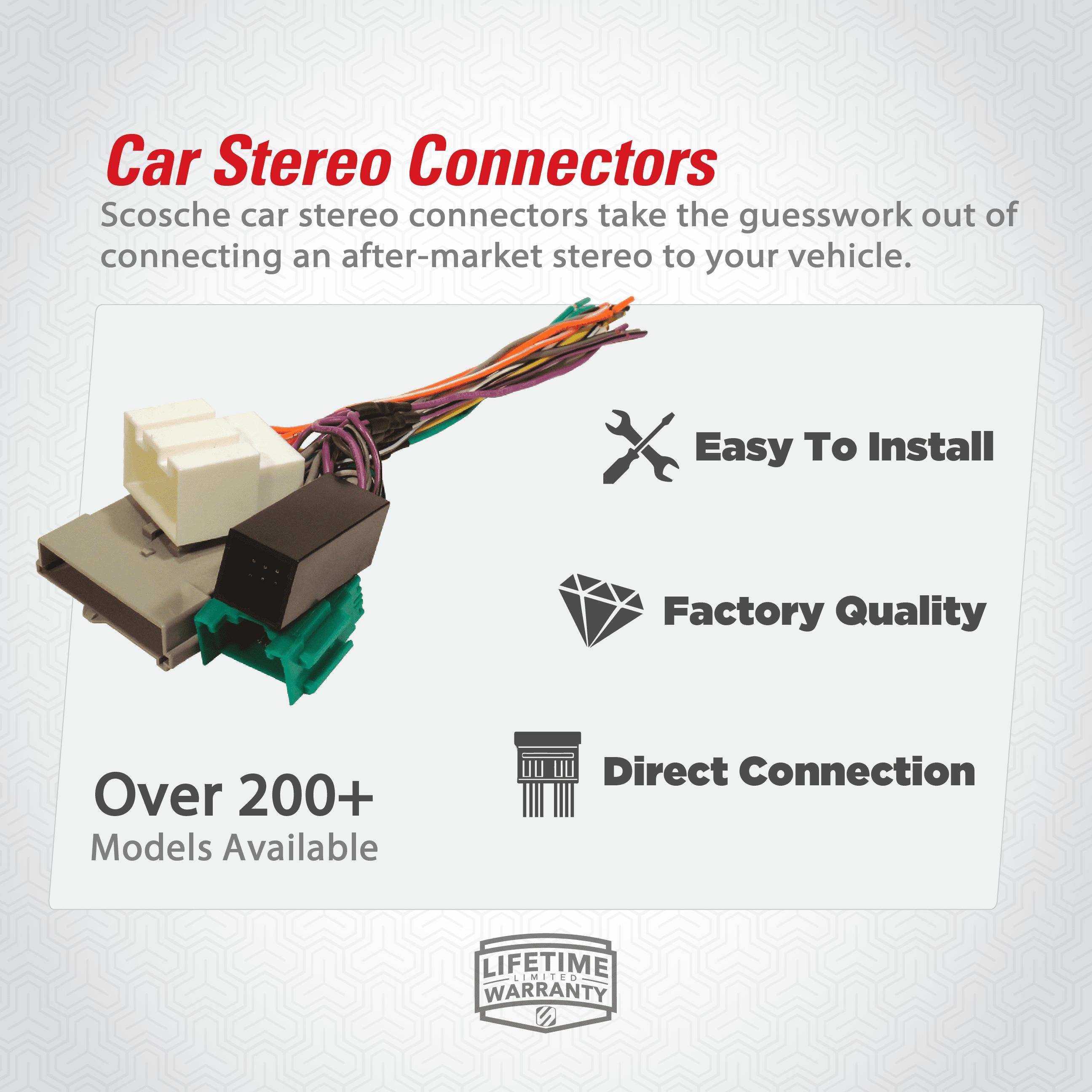 Scosche GM035 Car / Truck / SUV Stereo Connector - Walmart.com - Walmart.com [ 2592 x 2592 Pixel ]