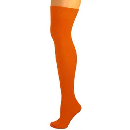 AJs Knee High Nylon Socks - Orange - Orange Knee Socks