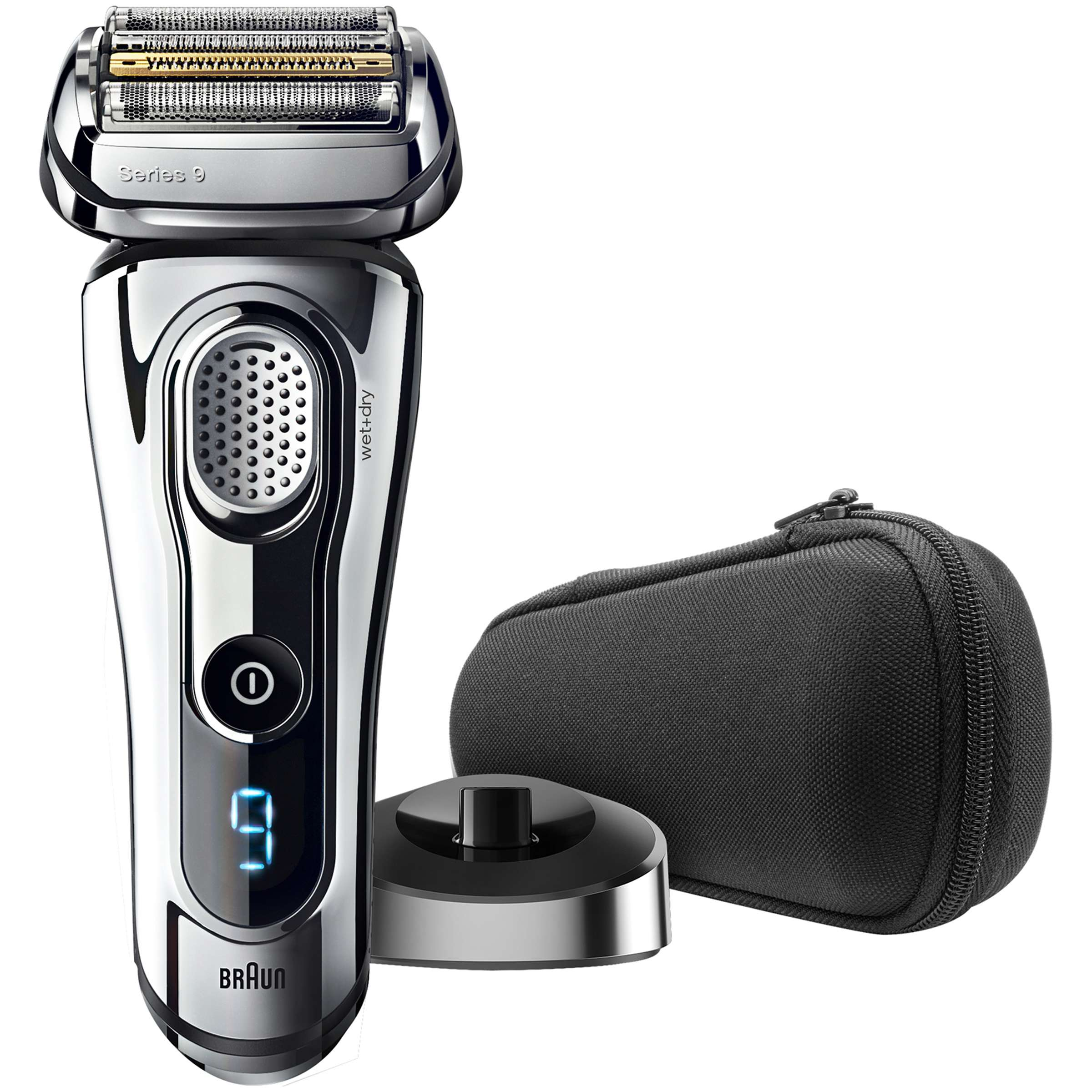 Braun Series 9 9293s Men's Electric Foil Shaver, Wet and Dry Razor with Charging Stand and Travel case
