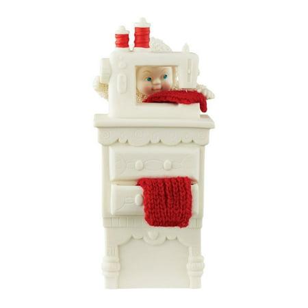 Snowbabies Department 56 Classics Stocking Cap Maker Figurine, 5.98