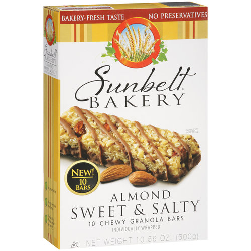 Sunbelt Bakery Almond Sweet & Salty Chewy Granola Bars, 10 count
