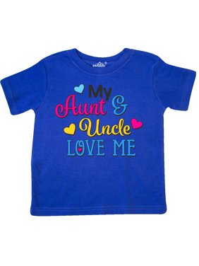 My Aunt and Uncle Love me with Hearts Toddler T-Shirt
