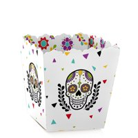 Day Of The Dead - Party Mini Favor Boxes - Sugar Skull or Halloween Party Treat Candy Boxes - Set of 12