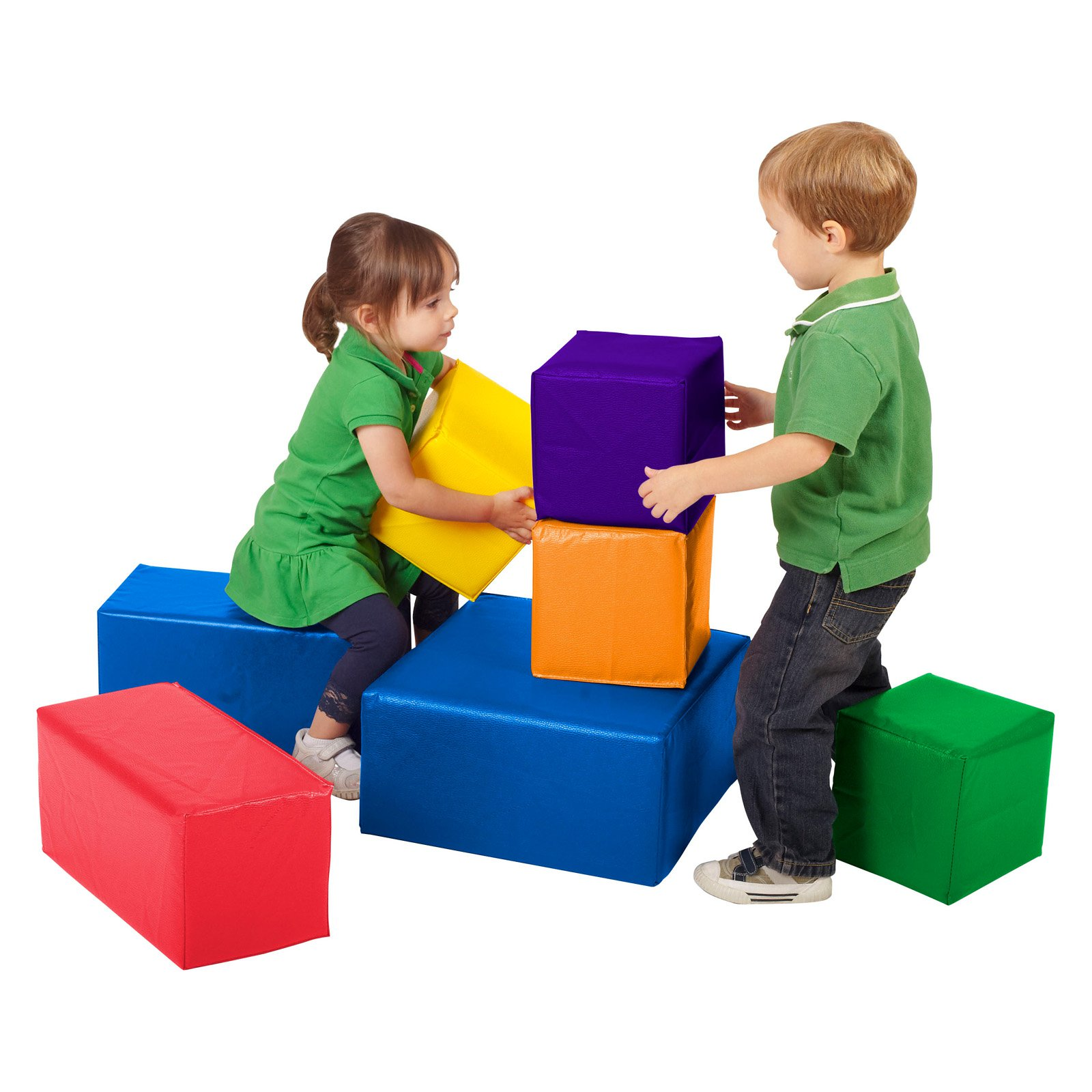 ECR4KIDS SoftZone 7 Piece Big Blocks Walmart