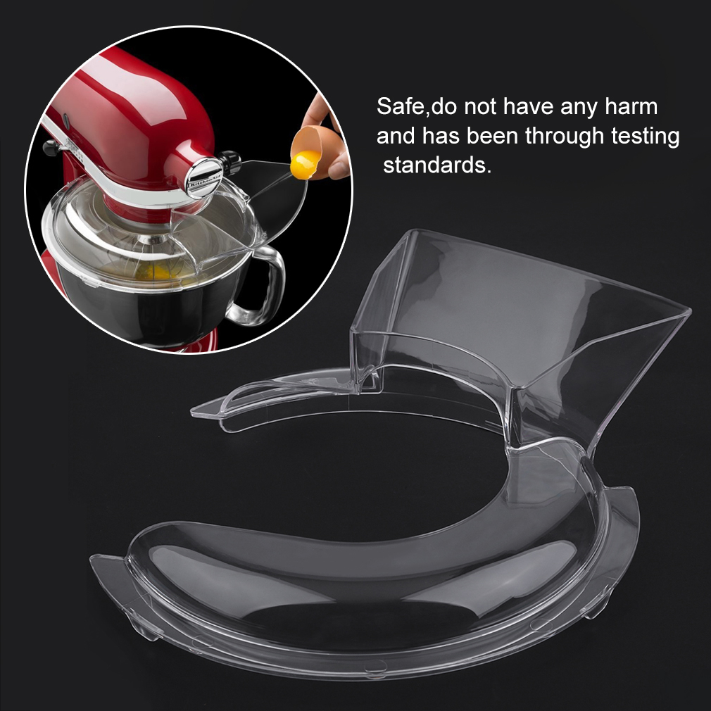 Clear American Kitchen Food Pour Pouring Shield For 5-Quart Stand Mixer Machine