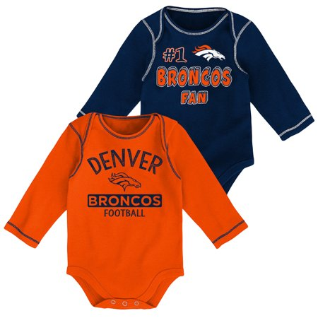 Newborn   Infant Navy Orange Denver Broncos 2-Pack Long Sleeve Bodysuits -  Walmart.com 642ae5a04