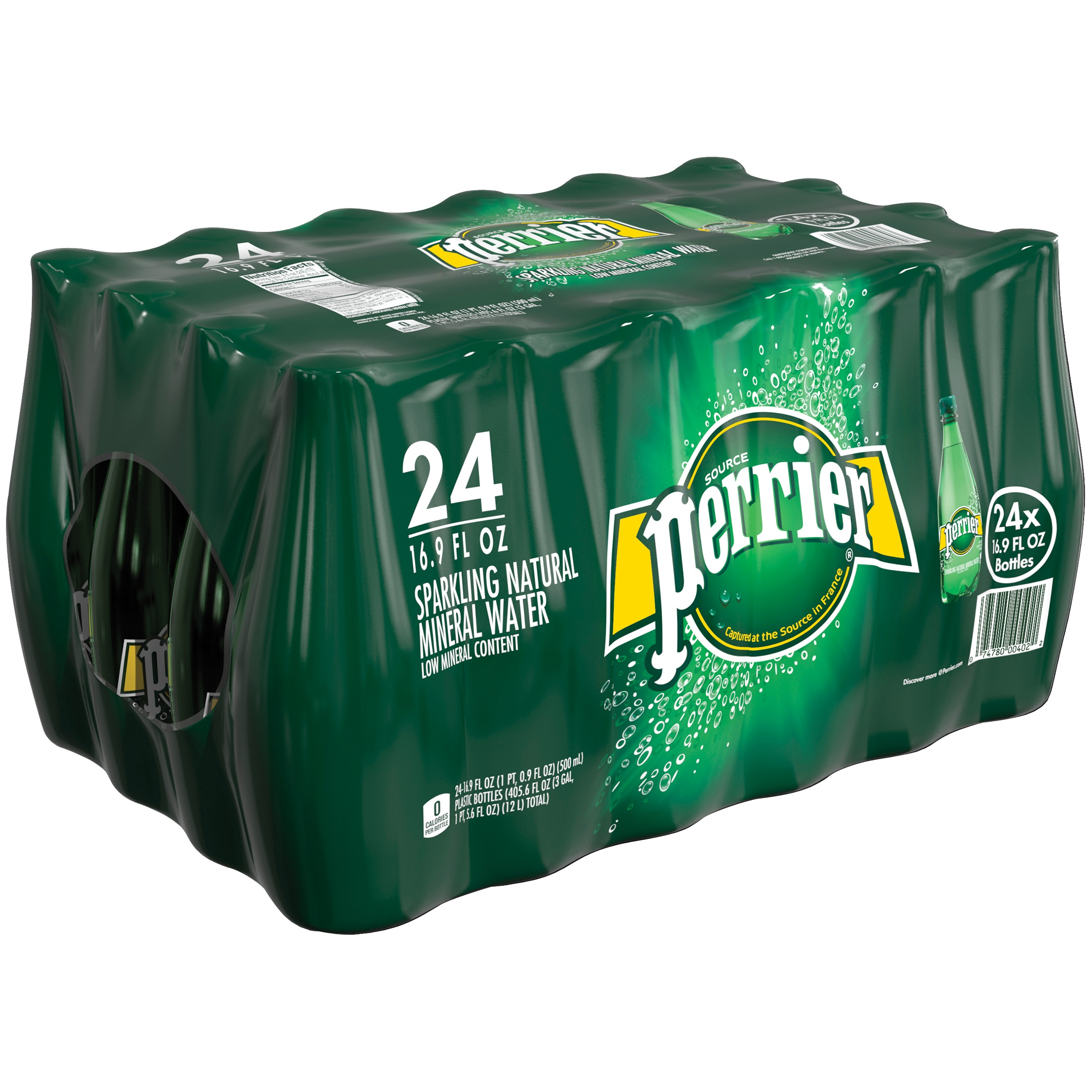 PERRIER Sparkling Natural Mineral <mark>Water</mark>, 16.9-ounce plastic bottles (Pack of 24)