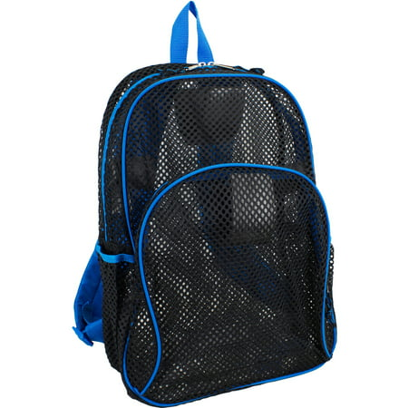 Mesh Backpack with Contrast Trim