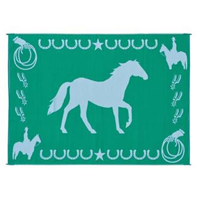 MINGS MARK LK4 Horse Mat 9x12 Green, White