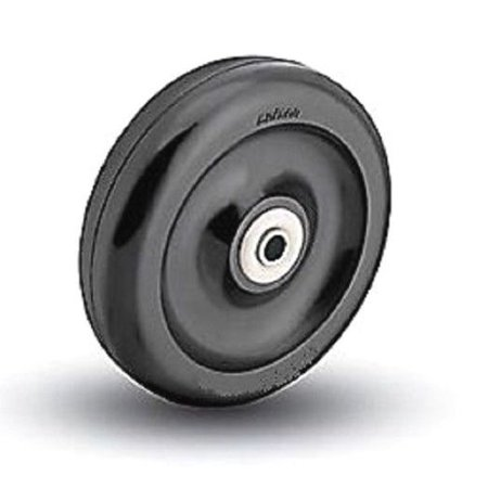 "Colson 4"" x 7/8"" Polyolefin Wheel with 5/16"" ID Narrow Tread Hard Plastic (One)"