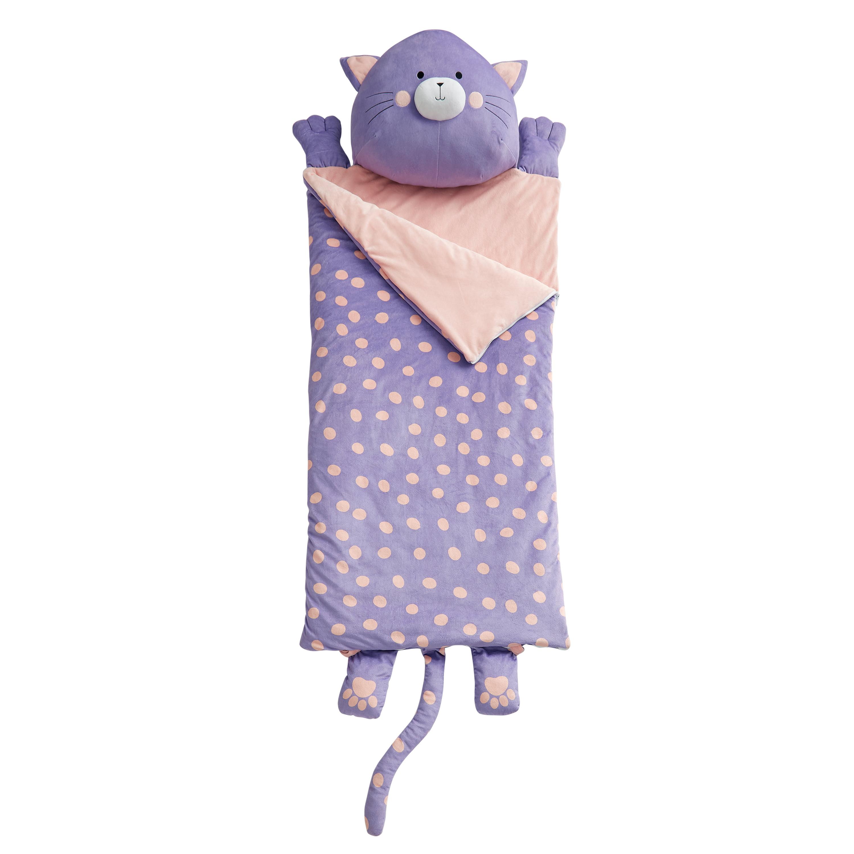 DREAM FACTORY CAT GARDEN SLUMBER BAG PURPLE