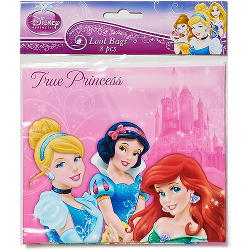 Disney Princess Treat Bags, Pack of 8, Party Supplies