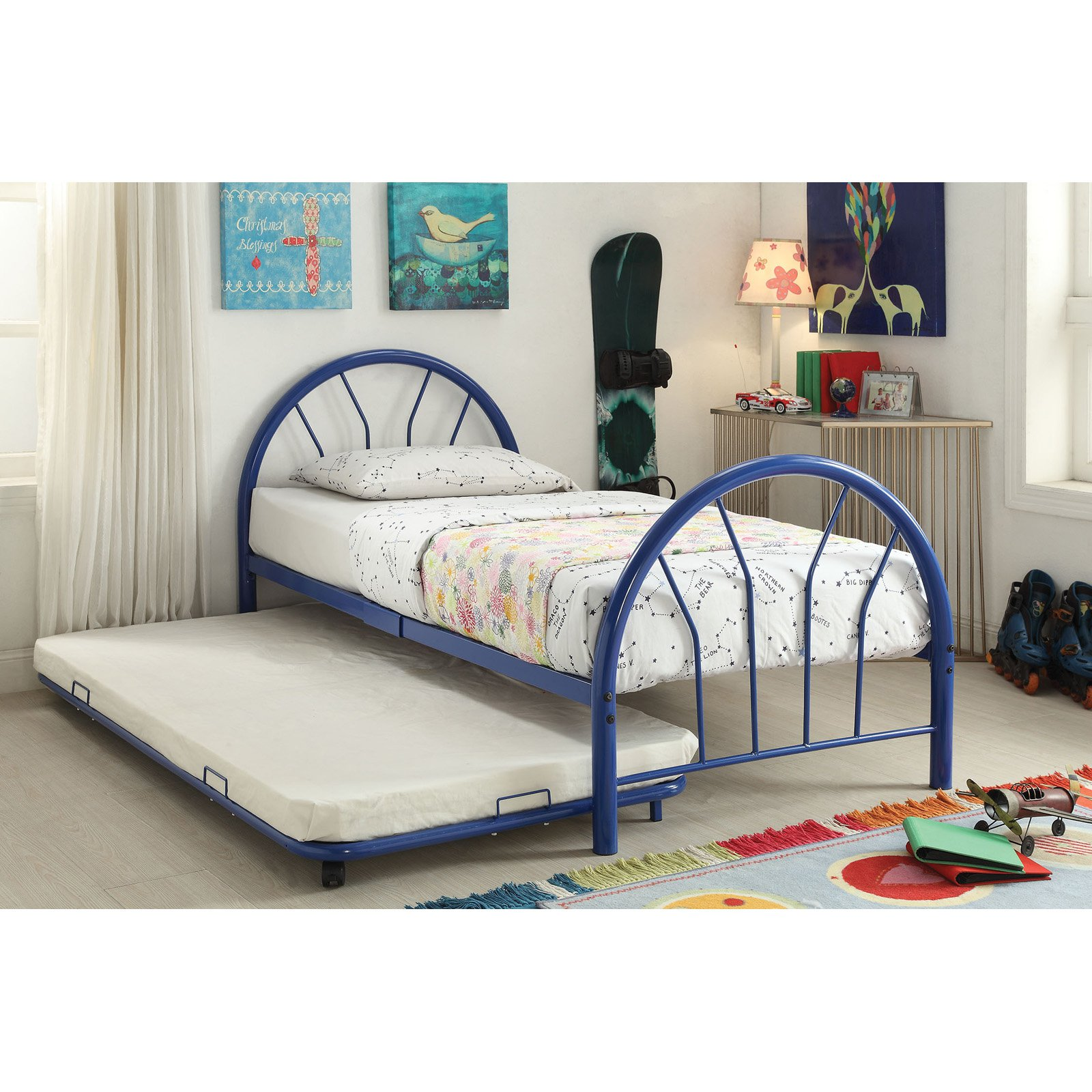 Silhouette Twin Bed, Blue