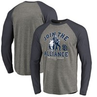 San Diego Padres Fanatics Branded MLB Star Wars Join The Alliance Raglan Long Sleeve T-Shirt - Heather Gray