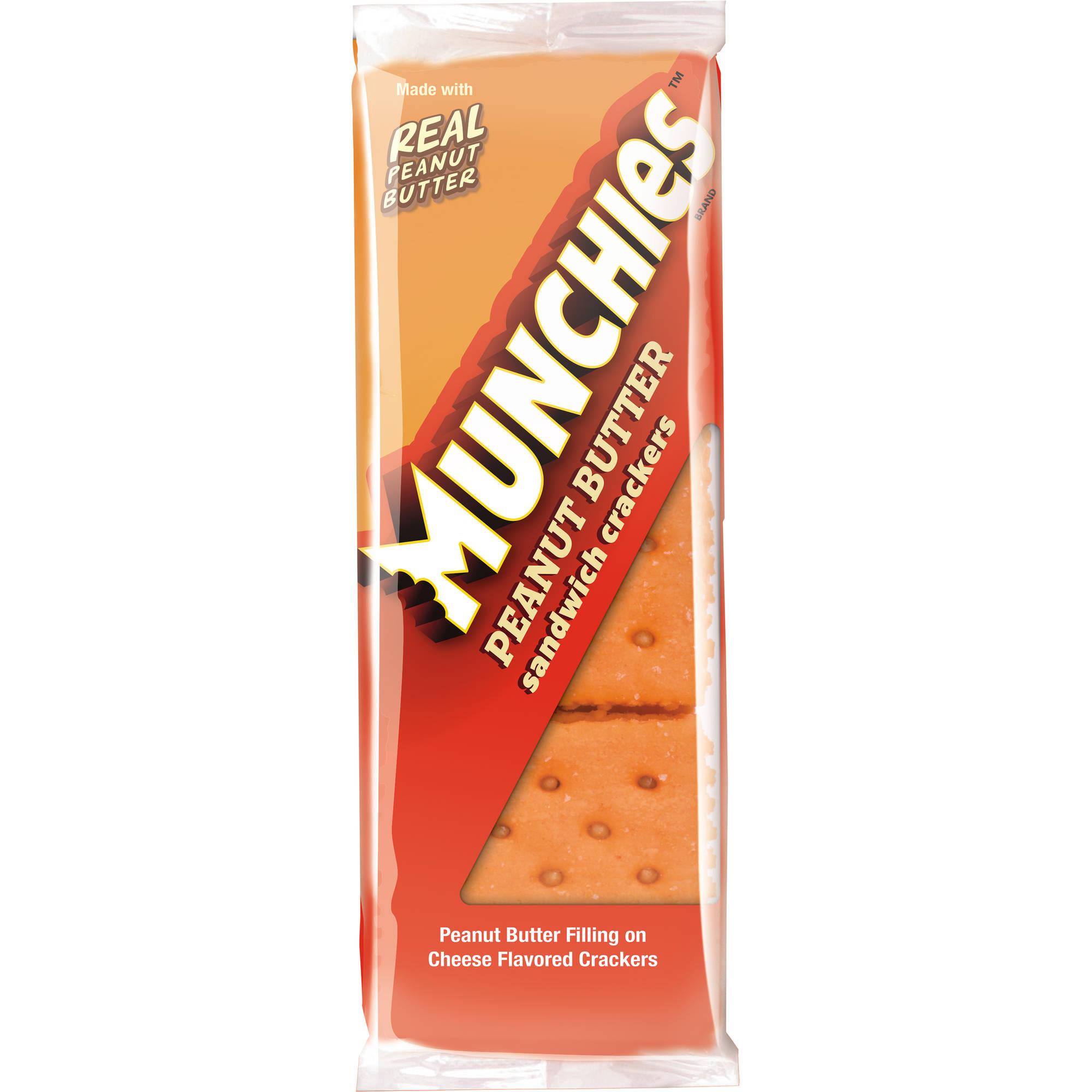 Munchies Peanut Butter Sandwich Crackers , 8 count, 1.42 oz