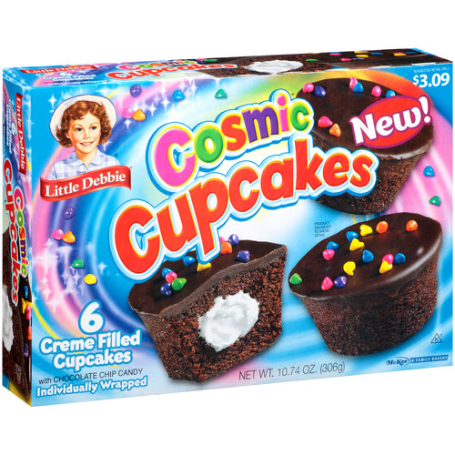 Little Debbie Creme Filled Cosmic Cupcakes, 6 count, 10.74 oz