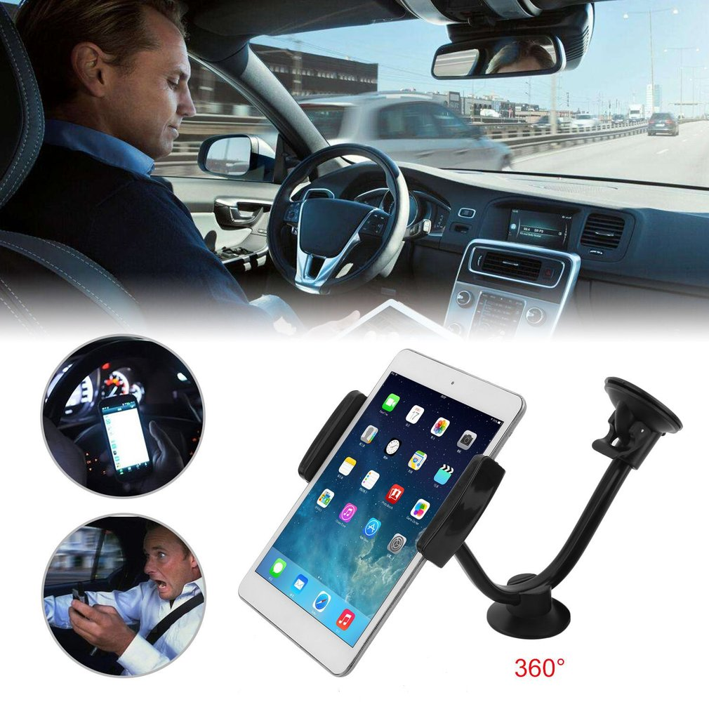 Clearence!360 Degree Car Windshield Mount Holder Adjustable Y Type Stand For Mobile Phone Tablet Universal Long Arm Holder