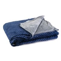 Density Comfort DCWB4060-10-GRYBLUMDC-WS 41 x 60 in. 10 lbs Kids Weighted Blanket Minky Cover - Navy & Gray