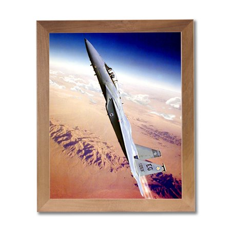 F15 Eagle Fighter Jet Airplane Wall Picture Honey Framed Art Print