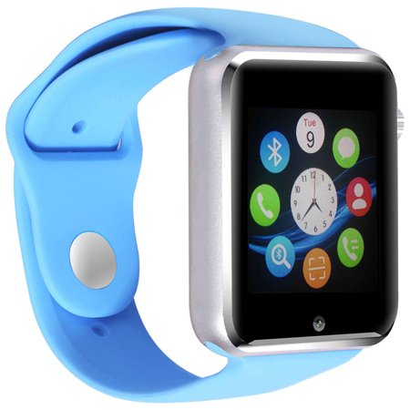 Amazingforless Premium A1 - Blue Bluetooth Smart Wrist Watch Phone mate for Android Samsung HTC LG Touch Screen with