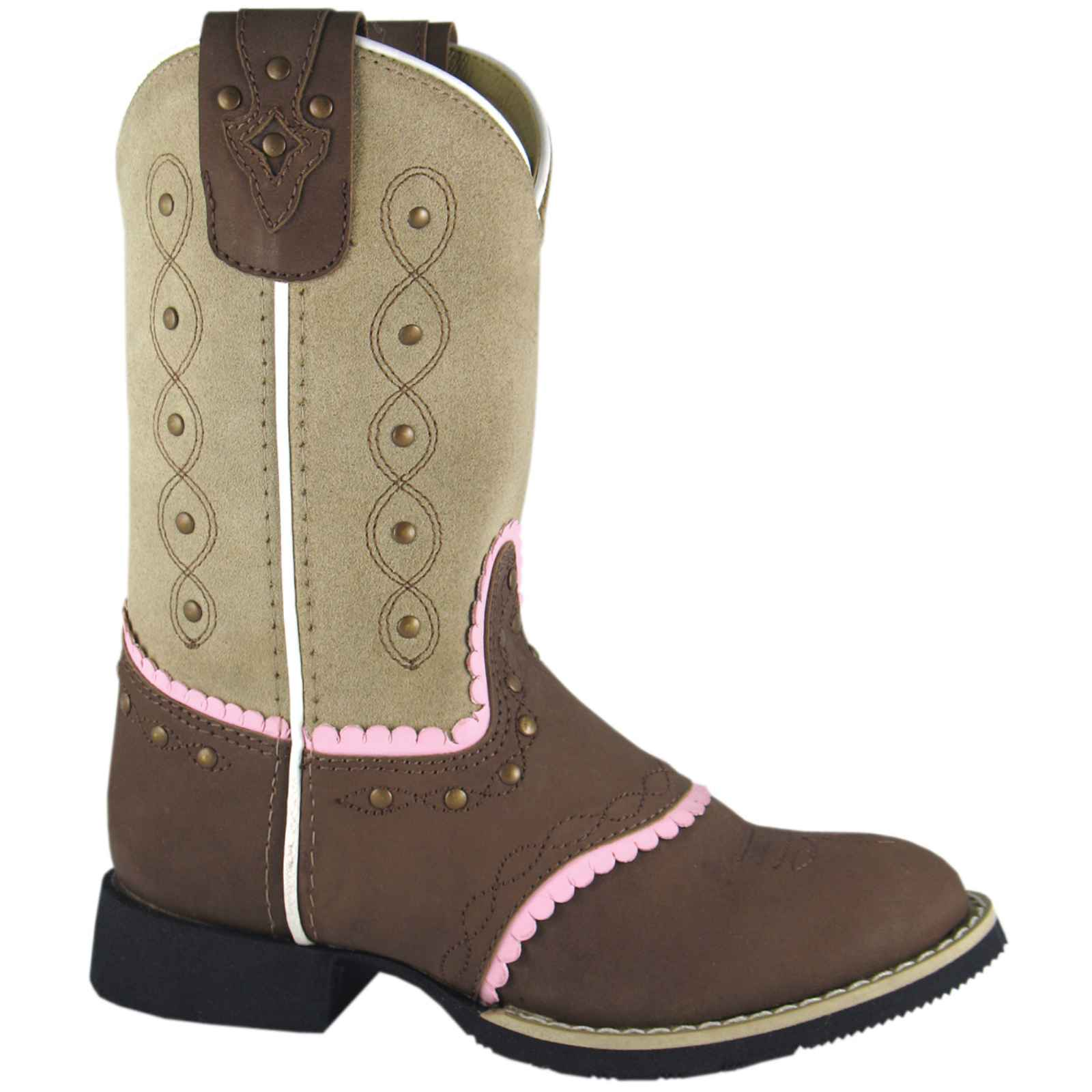Smoky Mountain Girls' Ren  Cowgirl Boot Round Toe - 3004C