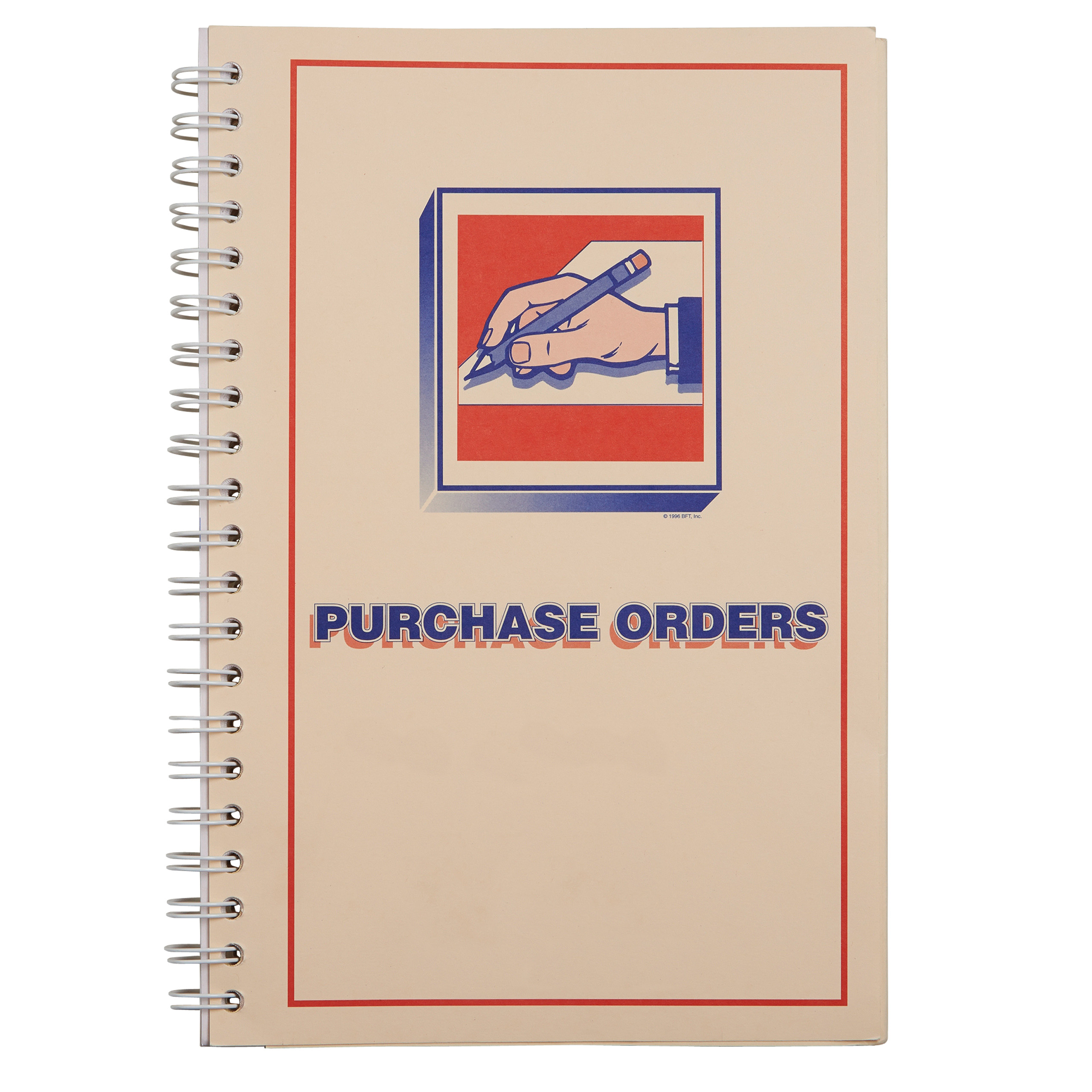 """3-Part Purchase Order Book 6 1 2""""W x 11""""H Book of 200 by SSWBasics"""