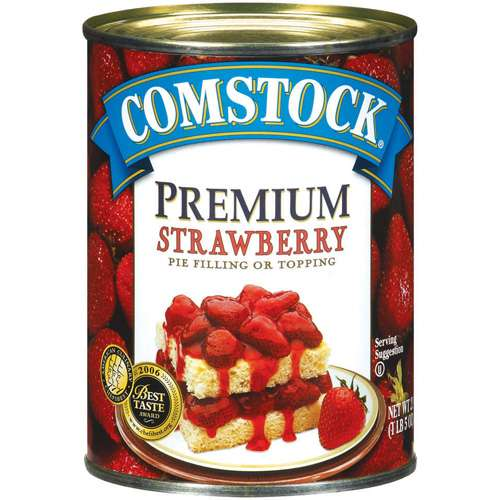 Duncan Hines Comstock Premium Strawberry Pie Filling & Topping, 21.0 OZ by Generic