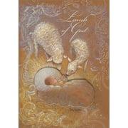 LPG Greetings Lamb of God Tip On Infant: Handcrafted Sherri Buck Baldwin Religious Christmas Card