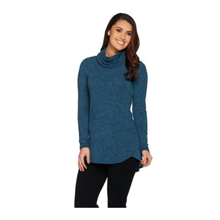 Lisa Rinna Collection Cowl Neck Sweater Tunic