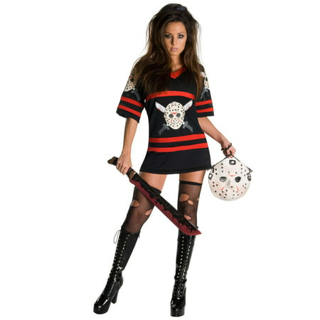 Friday 13 Halloween Costumes (Women's Sexy Friday the Thirteenth Jason Voorhees)
