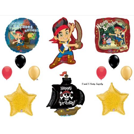 Jake The Neverland Pirates SHIP Birthday Party Balloons Decorations Supplies